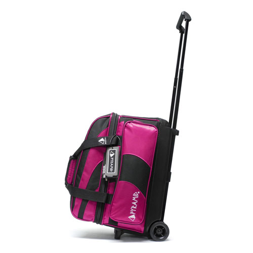 Path Deluxe Double Roller Black Hot Pink Pyramid Bowling