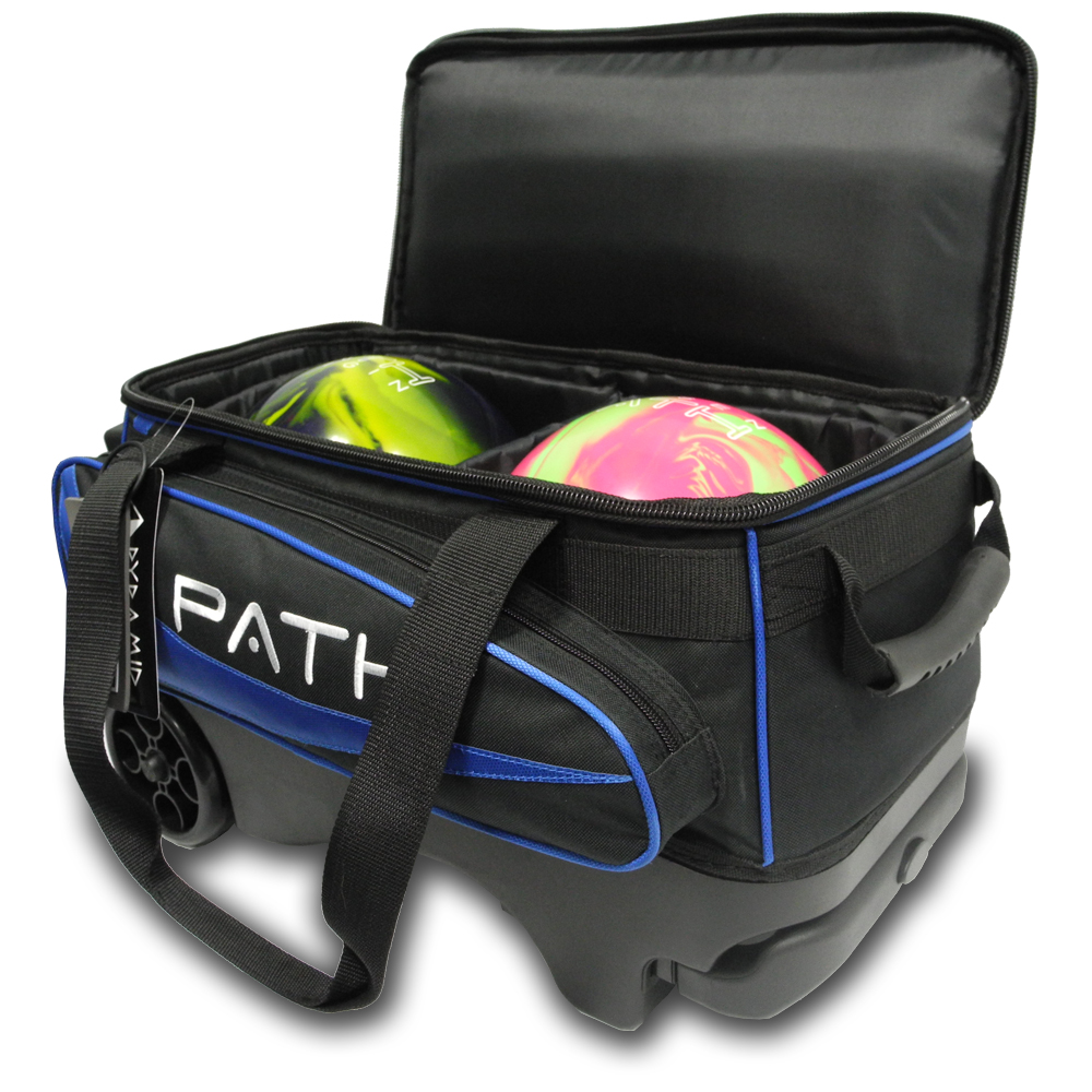 Path Premium Deluxe Double Roller Black Blue Pyramid Bowling