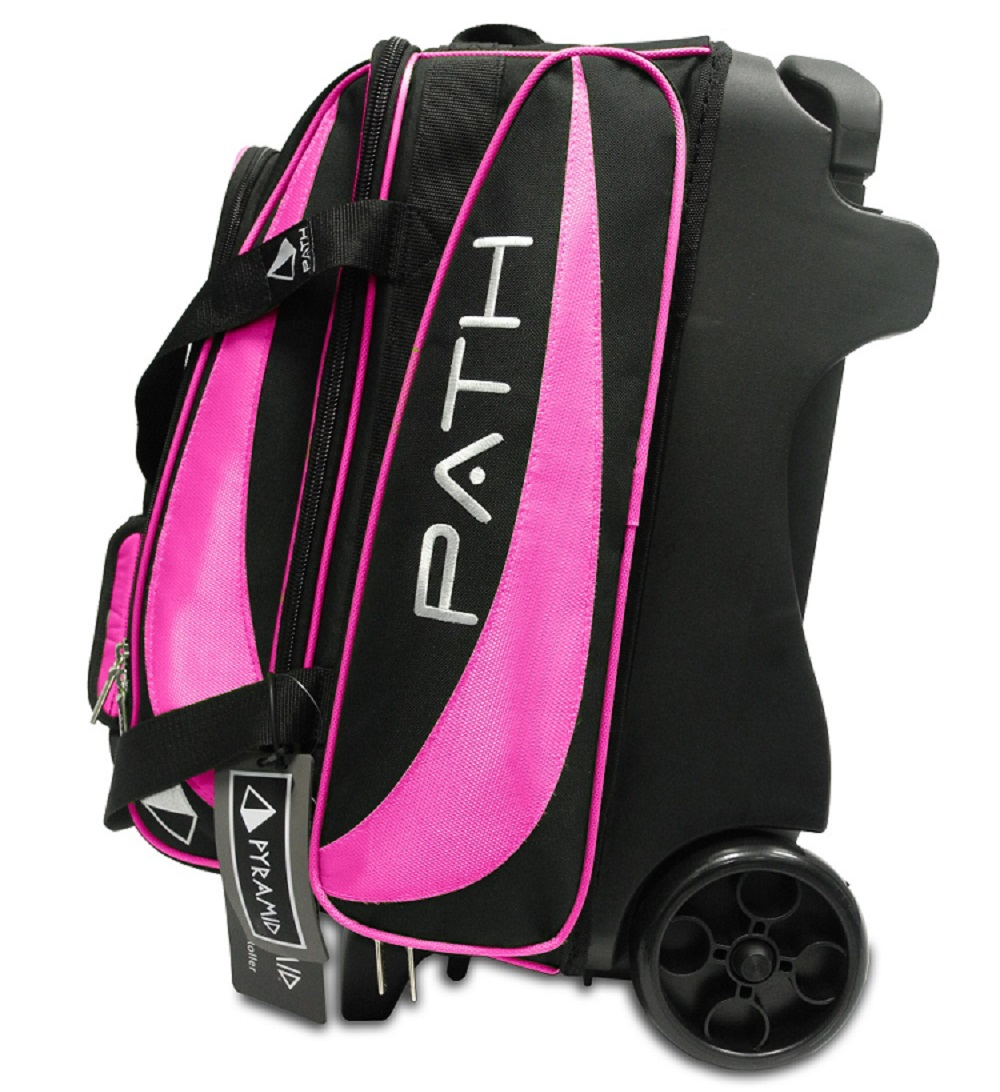 Path Premium Deluxe Double Roller Black Hot Pink Pyramid