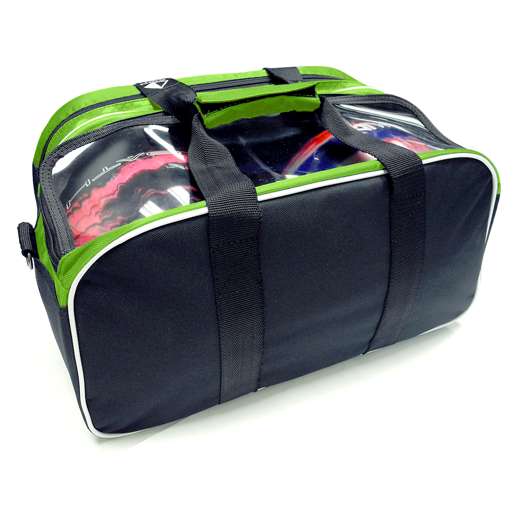Path Double Tote Plus Lime Green Black Pyramid Bowling