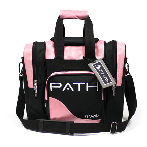 Path Deluxe Single Tote Pink Black Pyramid Bowling