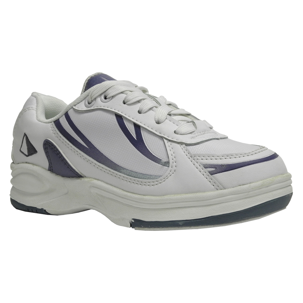 Women's Athletic Bowling Shoe White/Lavender   Pyramid Bowling