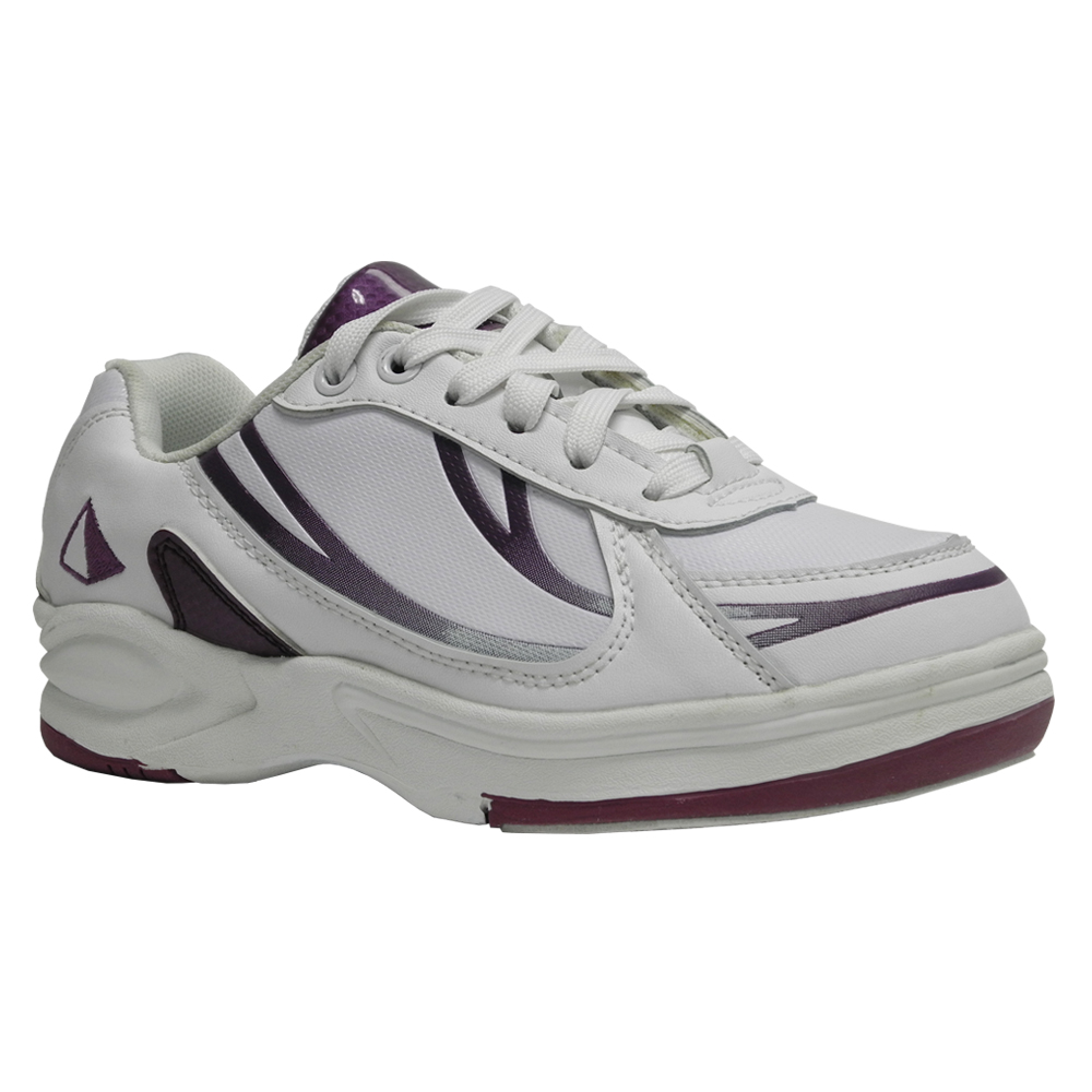 s athletic bowling shoe white purple pyramid bowling