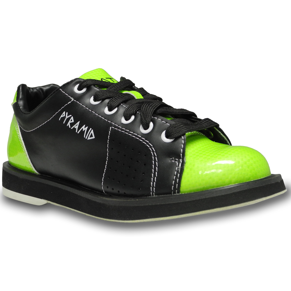s path bowling shoe black lime green pyramid bowling